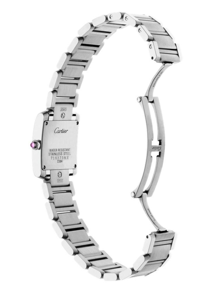 Contemporary Cartier Tank Française Watch Small Model Steel For Sale