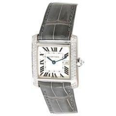 Cartier Tank Francaise WE101751 Women's Watch in 18 Karat White Gold