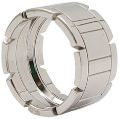 Cartier 'Tank Francaise' White Gold Ring