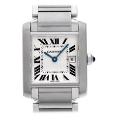 Cartier Tank Francaise WSTA0005, Beige Dial, Certified and Warranty