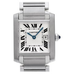 Cartier Tank Francaise WSTA0005, Case, Certified and Warranty