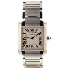 Cartier Tank Francaise WSTA0005, Silver Dial, Certified and Warranty