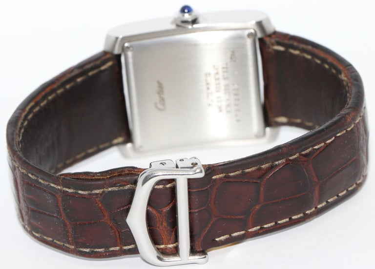 Modern Cartier Tank Française XL Automatic Wristwatch, Ref. 2564, Stainless Steel For Sale