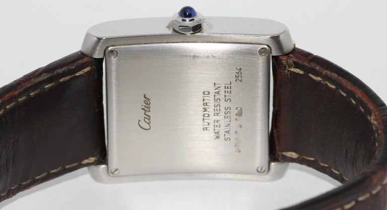 Cartier Tank Française XL Automatic Wristwatch, Ref. 2564, Stainless Steel In Fair Condition For Sale In Berlin, DE