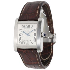 Cartier Tank Française XL Automatic Wristwatch, Ref. 2564, Stainless Steel