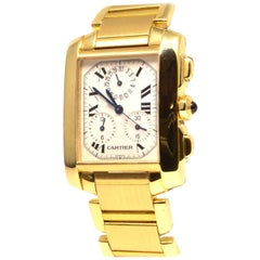 Cartier Tank Francaise Yellow Gold 1830