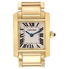 Cartier Tank Francaise Yellow Gold Quartz Ladies Watch W50002N2