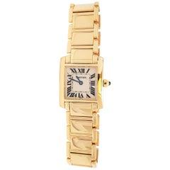 Cartier 'Tank Française' Yellow Gold Watch