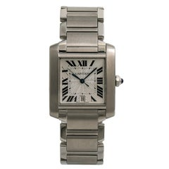 Cartier Tank Francaise2520, Dial Certified Authentic
