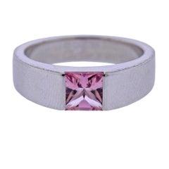 Cartier Tank Gold Pink Tourmaline Ring