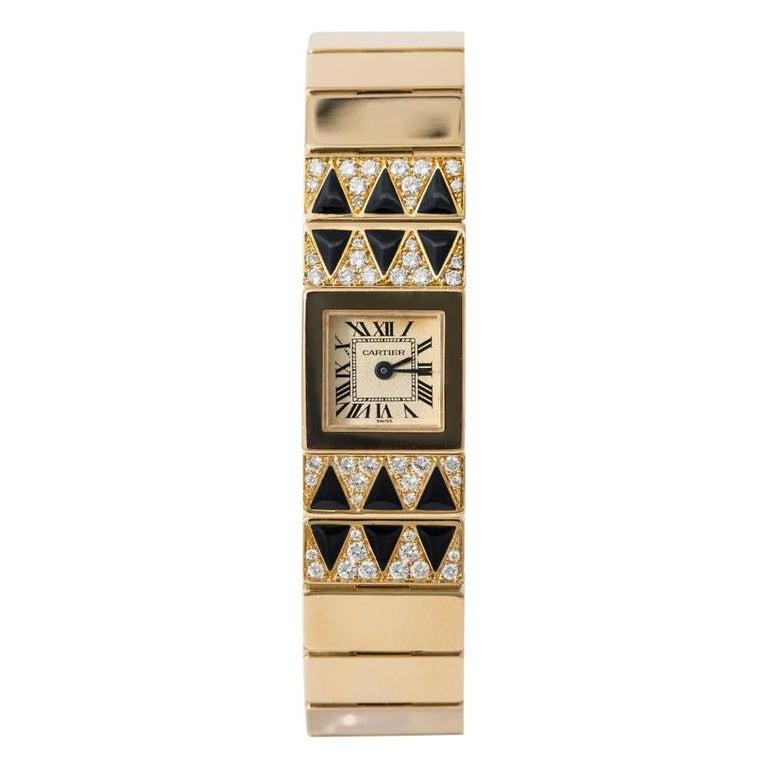 Cartier Tank Lingot 1705 Quartz Women's Off-White Dial Watch 18 Karat YG For Sale
