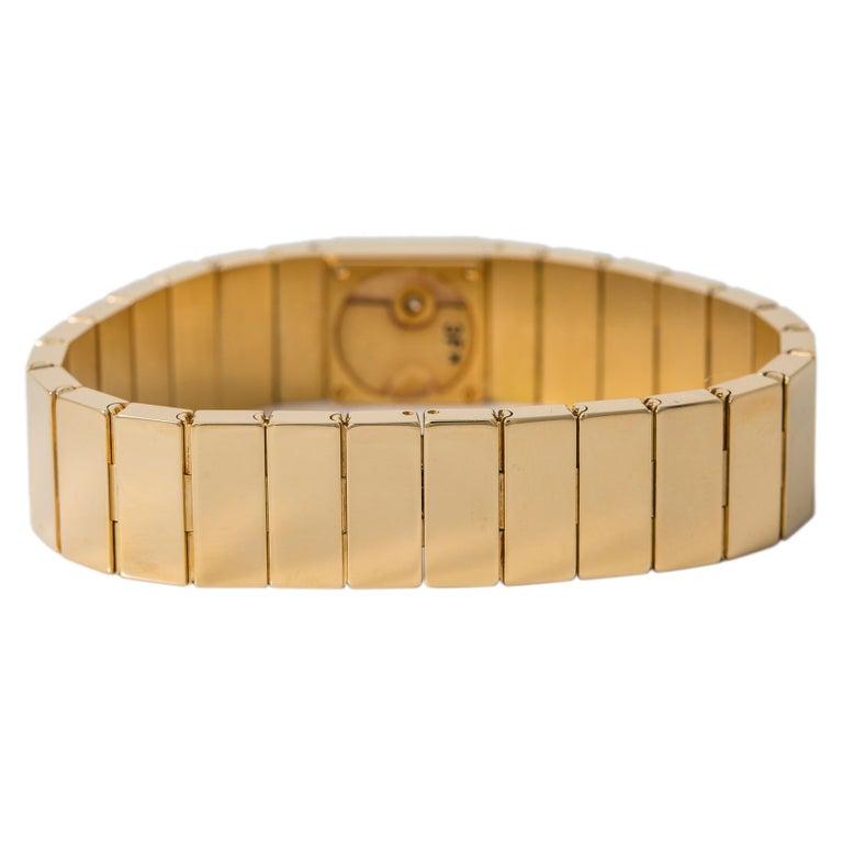 Cartier Tank Lingot 1705 Quartz Women's Off-White Dial Watch 18K YG 14MM