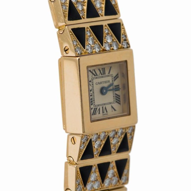 Modern Cartier Tank Lingot 1705 Quartz Women's Off-White Dial Watch 18 Karat YG For Sale
