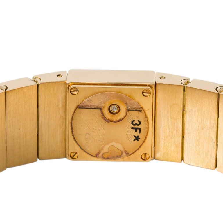 Cartier Tank Lingot 1705 Quartz Women's Off-White Dial Watch 18 Karat YG In Excellent Condition For Sale In Miami, FL
