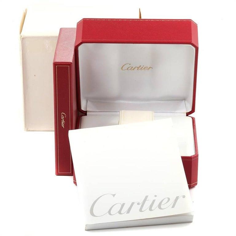 Cartier Tank Louis 18 Karat Yellow Gold Brown Strap Ladies Watch W1529856 For Sale 6