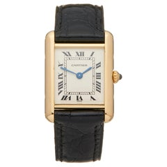 Cartier Tank Louis Cartier 18 Karat Yellow Gold Wristwatch
