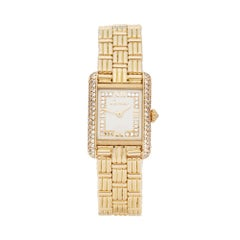Cartier Tank Louis Cartier Paris Diamond 18 Karat Yellow Gold