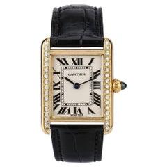 Cartier Tank Louis Cartier Small Model 18ct Gold Strap Watch W1529856