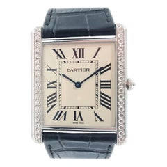 Cartier Tank Louis Extra Flat 18 Karat White Gold Watch