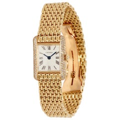 Cartier Tank Louis Ladies Wrist Watch, 18 Karat Gold and Diamonds