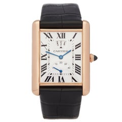 Cartier Tank Louis LC Big Date 18 Karat Rose Gold W1560003 or 3185