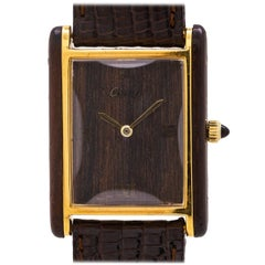 Cartier Tank Louis Men's Wood Case, circa 1970s