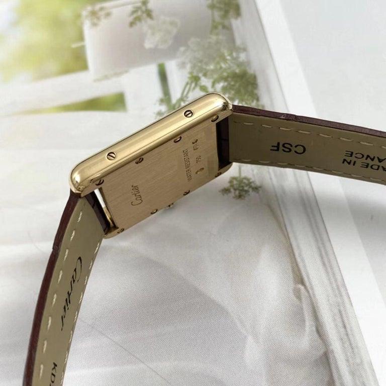 Cartier Tank Louis Small Model 18k Yellow Gold Watch W1529856 1