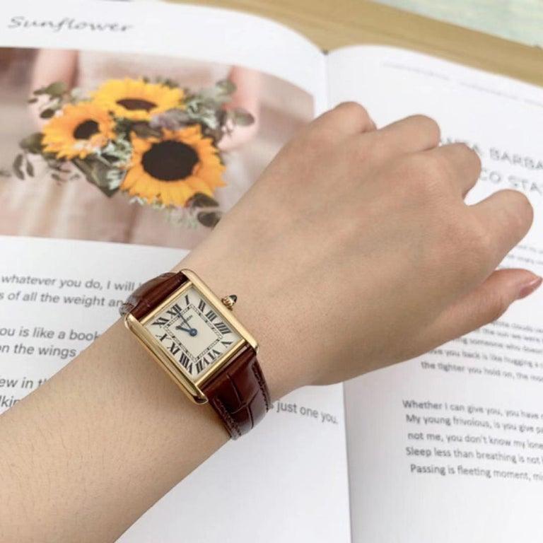 Cartier Tank Louis Small Model 18k Yellow Gold Watch W1529856 2