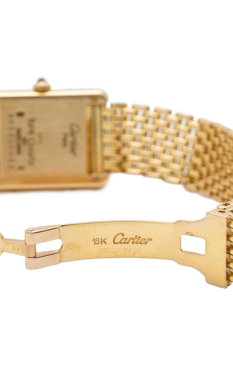 Women's Cartier Tank Louis Watch 18 Karat Gold For Sale