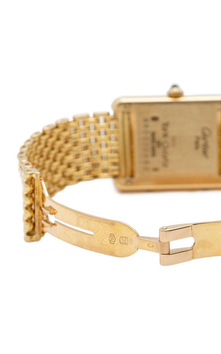 Cartier Tank Louis Watch 18 Karat Gold For Sale 1