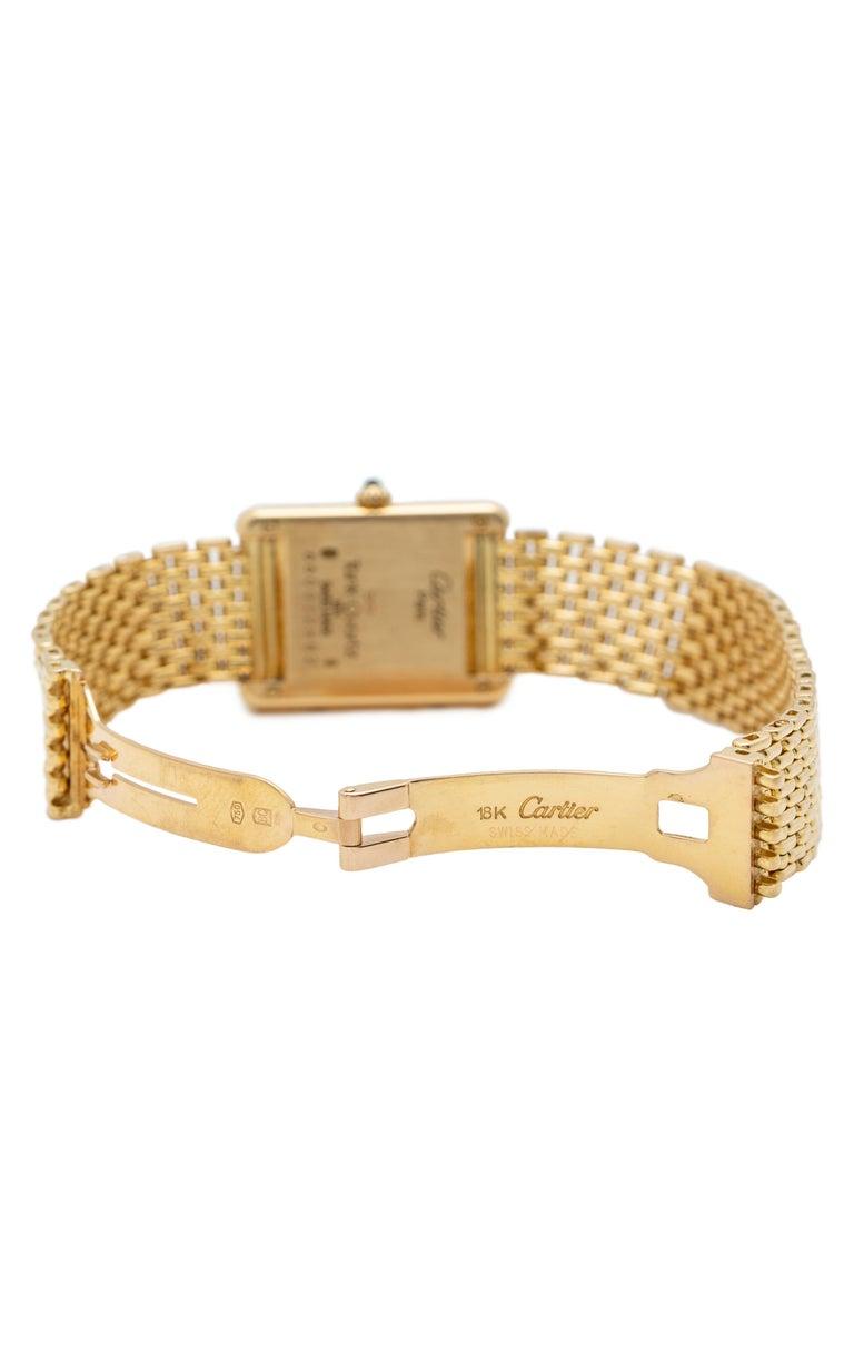 Cartier Tank Louis Watch 18 Karat Gold For Sale 2