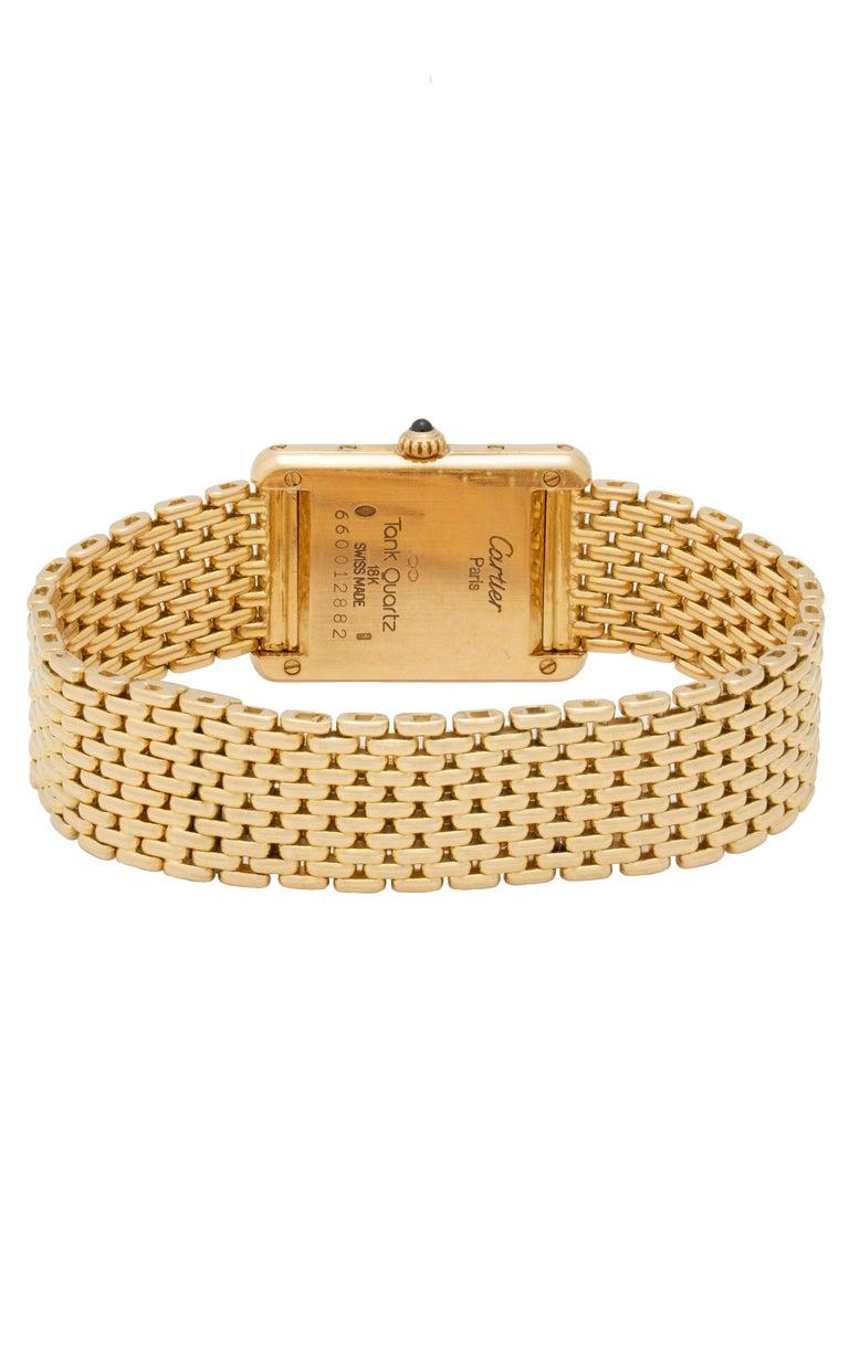 Cartier Tank Louis Watch 18 Karat Gold For Sale 3