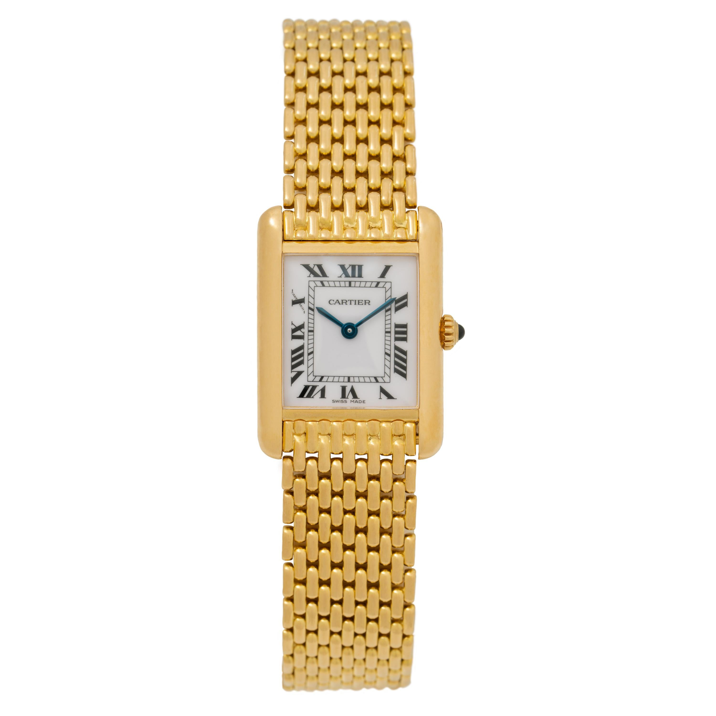 Cartier Tank Louis Watch 18 Karat Gold