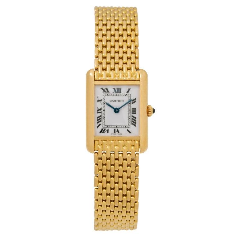 Cartier Tank Louis Watch 18 Karat Gold For Sale