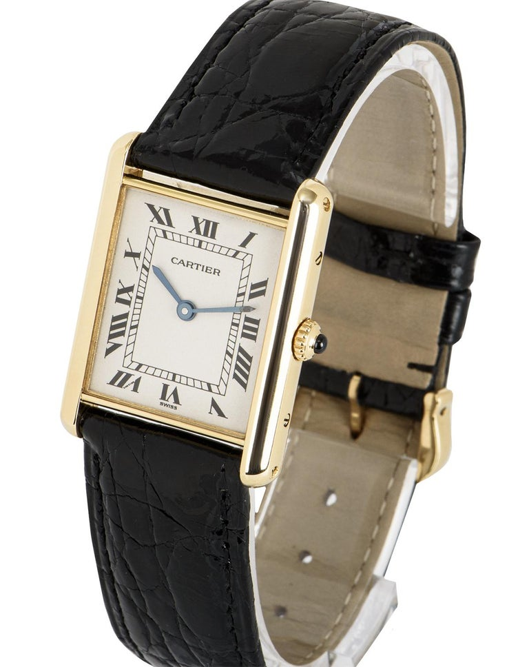 Cartier Tank Louis Yellow Gold 1140 Watch In Excellent Condition For Sale In London, GB