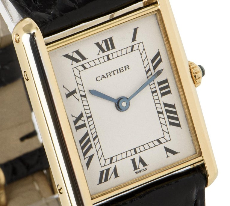 Men's Cartier Tank Louis Yellow Gold 1140 Watch For Sale