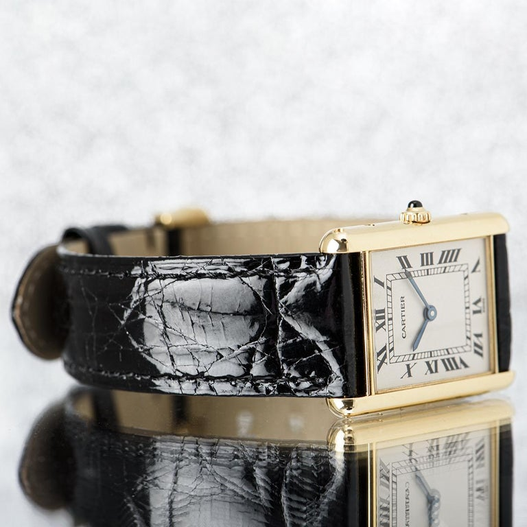 Cartier Tank Louis Yellow Gold 1140 Watch For Sale 1