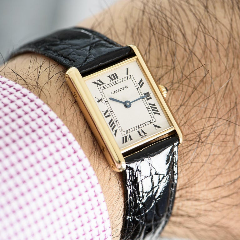 Cartier Tank Louis Yellow Gold 1140 Watch For Sale 2