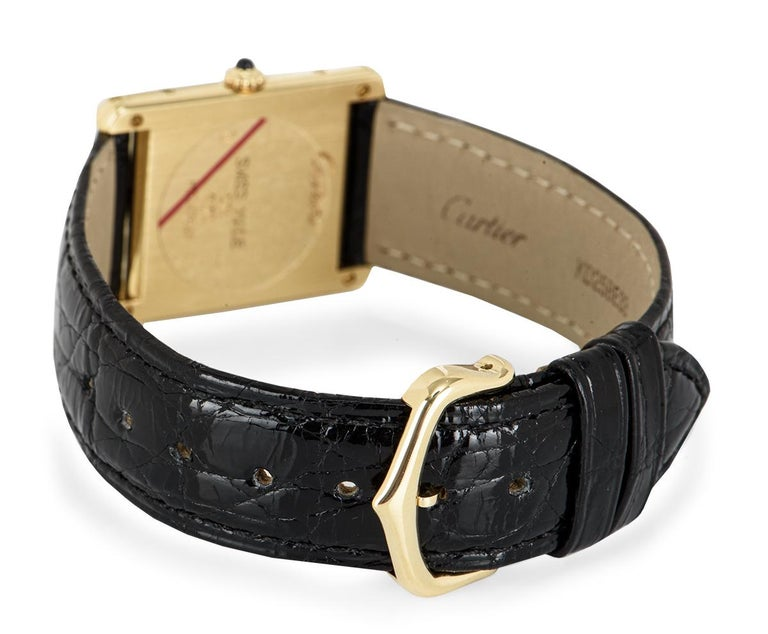 Cartier Tank Louis Yellow Gold 1140 Watch For Sale 3