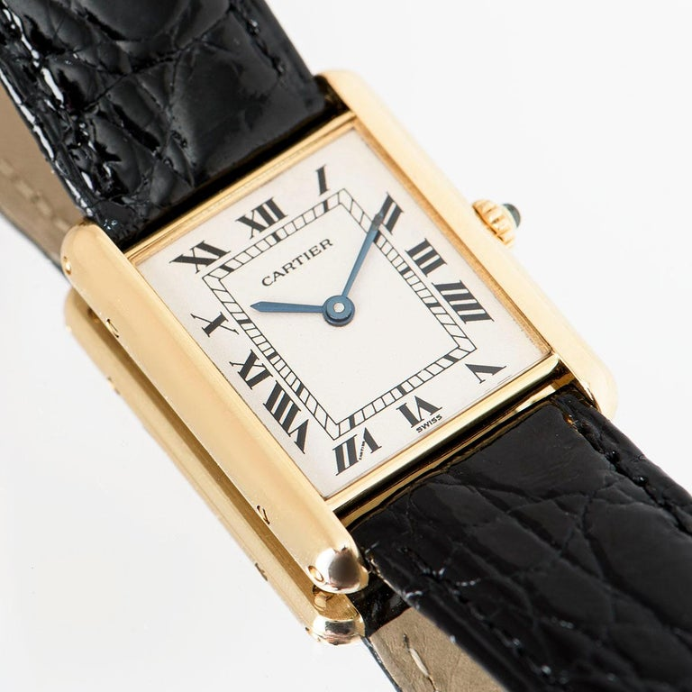 Cartier Tank Louis Yellow Gold 1140 Watch For Sale 4
