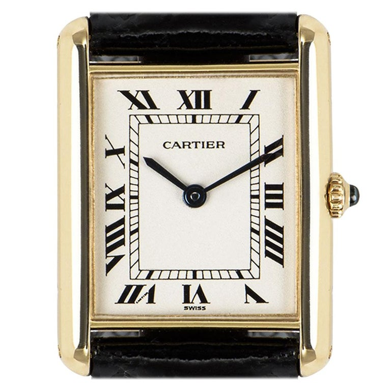 Cartier Tank Louis Yellow Gold 1140 Watch For Sale