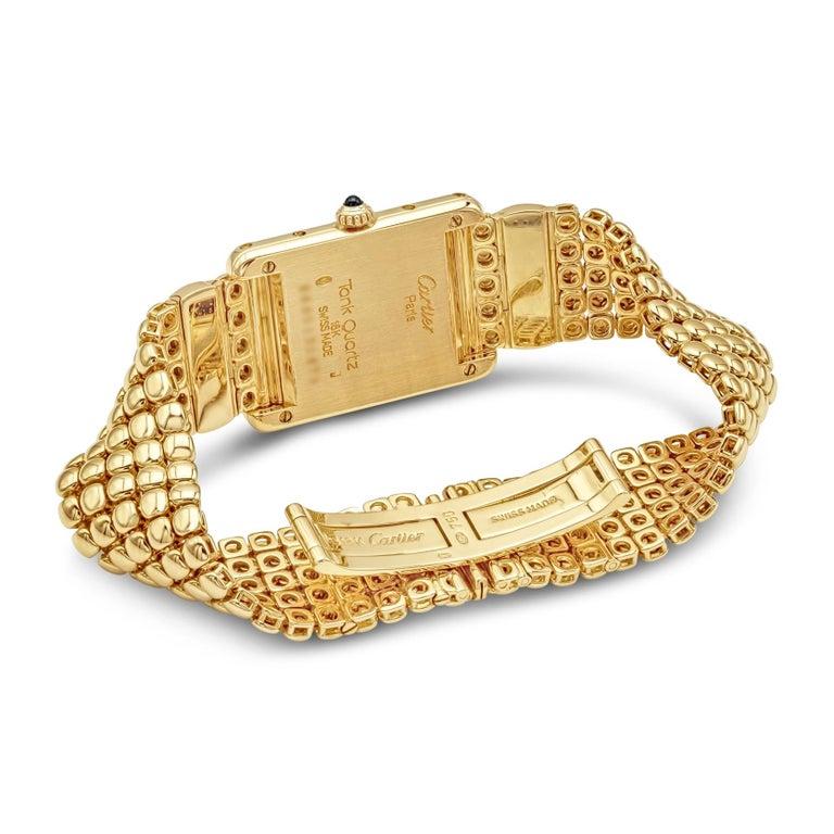 Contemporary Cartier Tank Louis Yellow Gold Quartz Wrist Watch For Sale