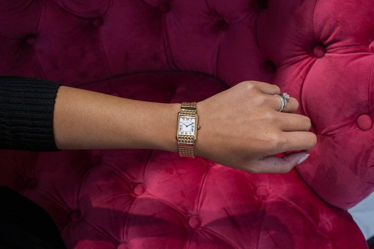 Women's Cartier Tank Louis Yellow Gold Quartz Wrist Watch For Sale