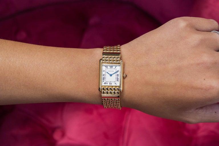 Cartier Tank Louis Yellow Gold Quartz Wrist Watch For Sale 1