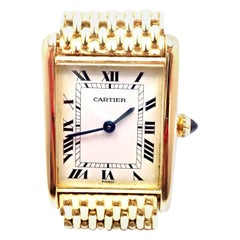 Cartier Tank Louis Yellow Gold with Bracelet Manual Wind Large Wristwatch