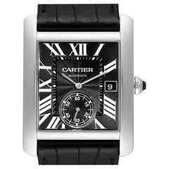 Cartier Tank MC Black Dial Automatic Men's Watch W5330004 Box Papers
