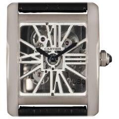 Cartier Tank MC Skeleton Palladium Skeleton Dial W5310026 Manual Wind Wristwatch