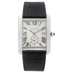 Cartier Tank MC Stainless Steel Silver Dial Automatic Men's Watch W5330003