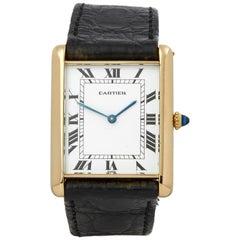 Cartier Tank Paris 0 81730552 Men's Yellow Gold Jumbo Automatique Watch