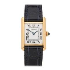 Cartier Tank Paris 18 Karat Yellow Gold 1000